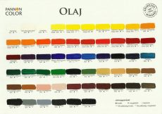 Színskála - Pannoncolor Művész Olajfesték színskála