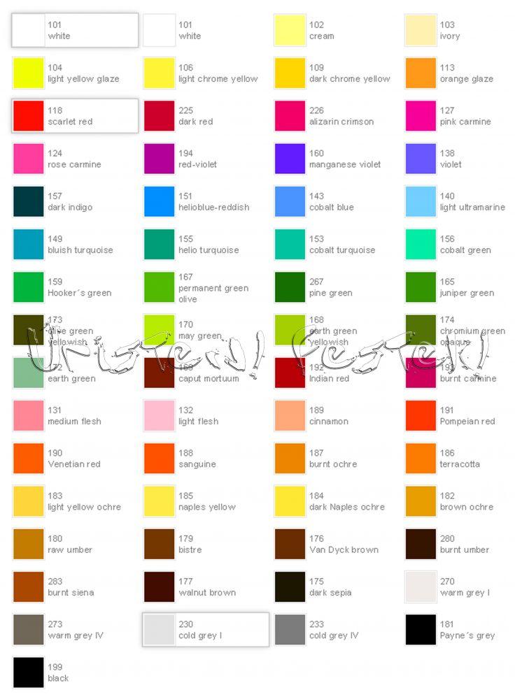 Színskála - Faber-Castel Pitt Pastel ceruza - 60 szín