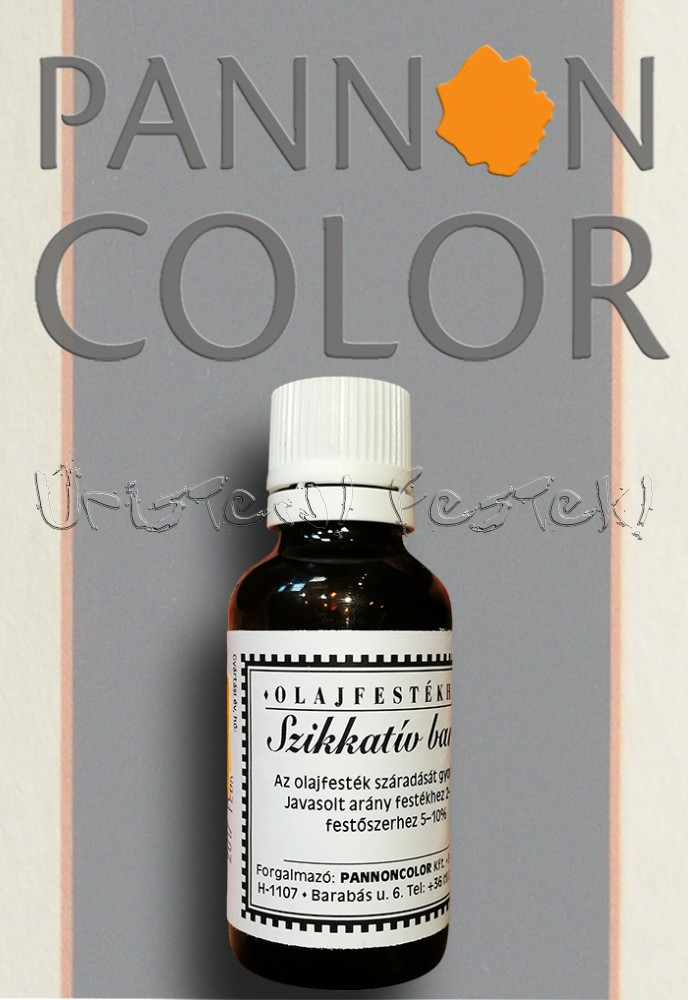 Szikkatív - Pannoncolor száradásgyorsító olajfestékhez; 30ml; világos és sötét
