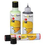 Üvegfestékhez kiegészítő - Marabu Fan & Fancy ÜRES flakon 25ml; 80ml