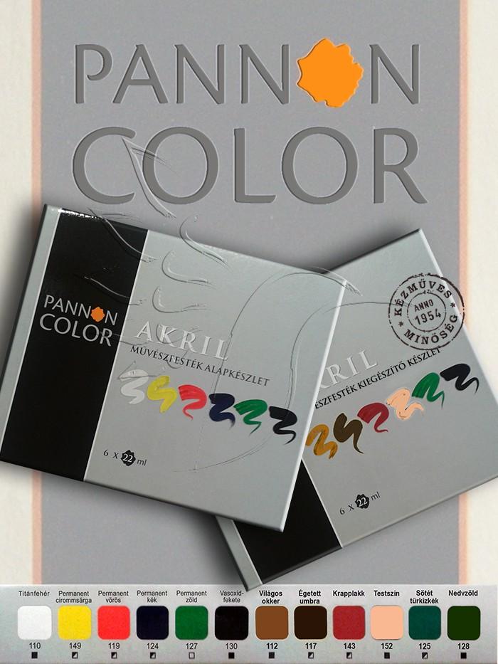 Akrilfesték készlet - Pannoncolor Művész ALAP + KIEGÉSZÍTŐ készlet 12x22ml