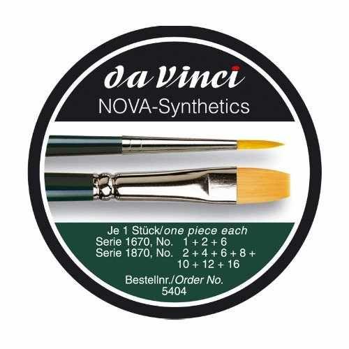 Ecsetkészlet - Da Vinci NOVA-SYNTETICS AKVARELL művész ecset fémdobozban – 5db