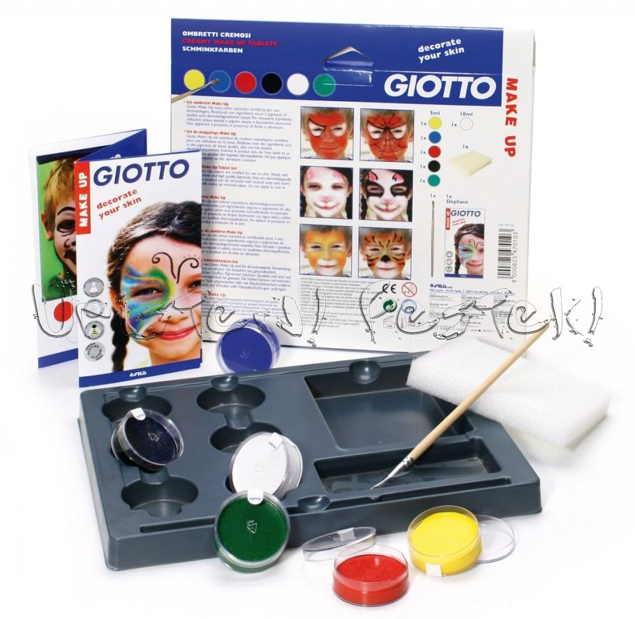 Testfesték, Giotto Make Up Arcfestő készlet - kiegészítőkkel