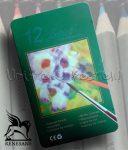 Akvarellceruza készlet - Renesans ecsettel - 12+1db
