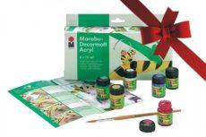 Dekorfestő készlet 6 színnel - Marabu