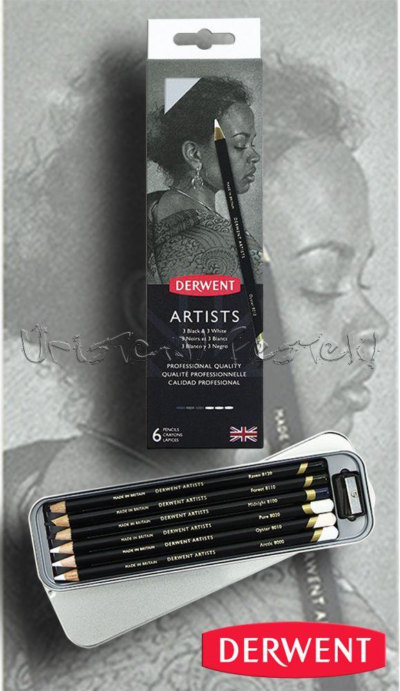 Ceruzakészlet – Derwent Artists BLACK & WHITE 6