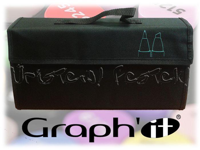 Filctartó - Graph'It 72 férőhelyes KITÁMASZTHATÓ (üresen) - fekete
