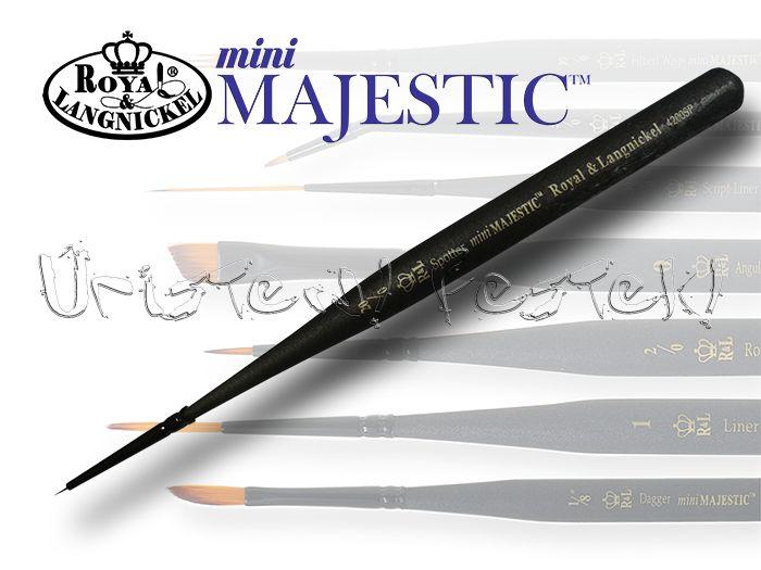 Ecset - Royal & Langnickel MINI MAJESTIC 4200SP - szintetikus, hegyes, extra rövidszőrű - KÜLÖNBÖZŐ