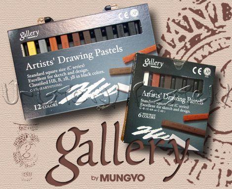 Pitt kréta készlet - Mungyo Gallery Drawing Pastels - C-6, C-12E
