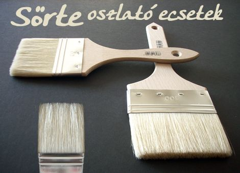 Oil-acrylic large area bristle brush - Different sizes!