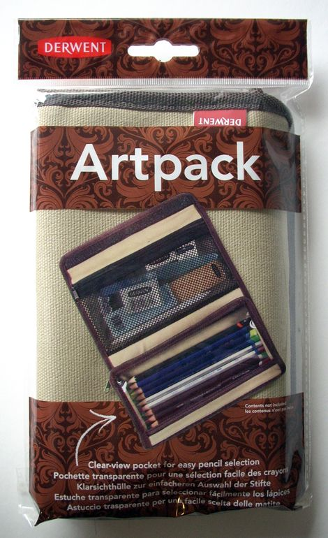 Pencil holder - Derwent Artpack - Two pockets (empty)