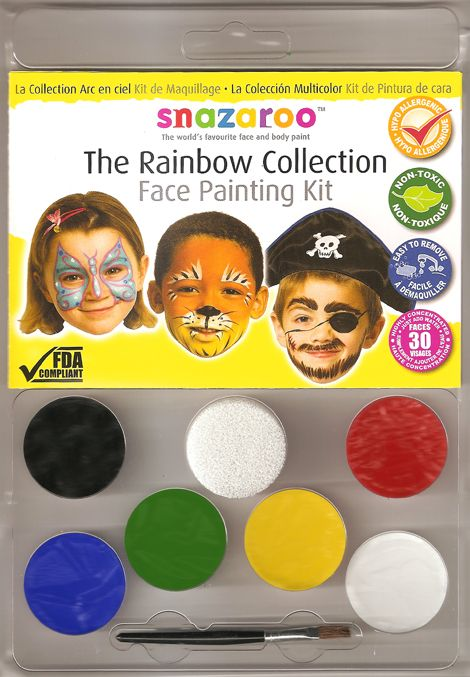 Body Paint Snazaroo Rainbow Face Painting Kit 6 pcs accessories
