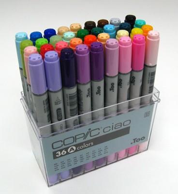 Felt Pen Set - ALPHA bruhs marker set - 36pcs