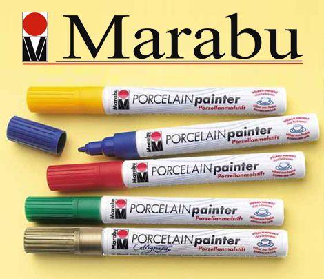 Felt pen - Marabu Porcelain Pen 1-2 mm - different colors