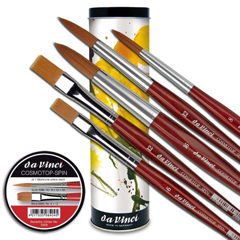 Brush Set - Da Vinci NOVA SYNTETICS watercolor artist brush tin box - 5 pieces