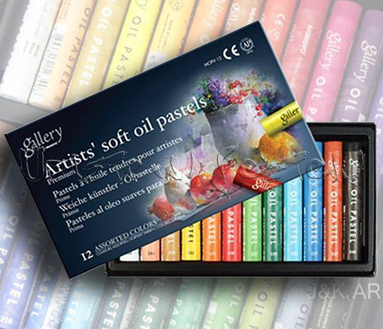 Oil Pastel Set - Derwent Academy - 12 pc