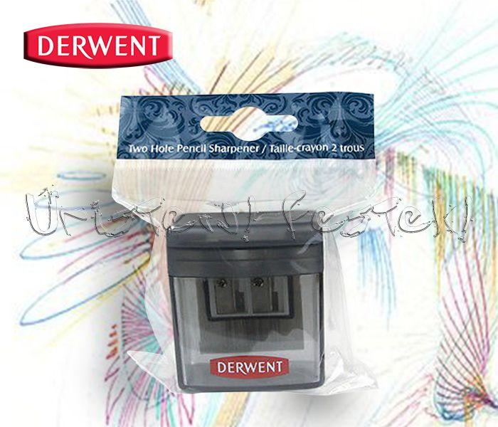 Hegyező - Derwent Two Hole Pencil Sharpener - 2 lyukú tartályos ceruzahegyező