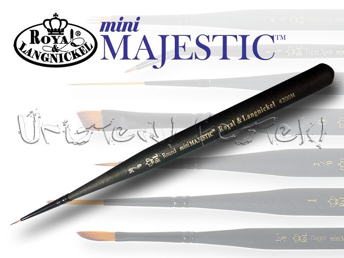 Brush - Da Vinci - synthetic green-handled, flat - in different sizes!