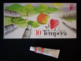 Tempera, tempera készlet