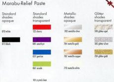 Színskála - Marabu Relief Paste
