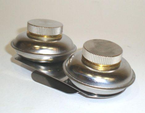 Keverő edényke fémből, csavaros fedeles - dupla