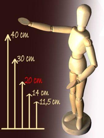 Wooden model figure - 20 cm