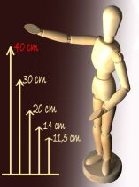 Wooden model figure - 40 cm