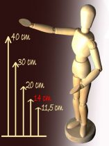 Wooden model figure - 14,5 cm