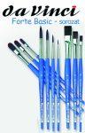 Ecset - Da Vinci - Forte Basic - szintetikus, erős, lapos - KÜLÖNBÖZŐ MÉRETEKBEN!