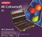 Színesceruza készlet - Derwent COLOURSOFT – elegáns fadobozban; extra puha;48db-os