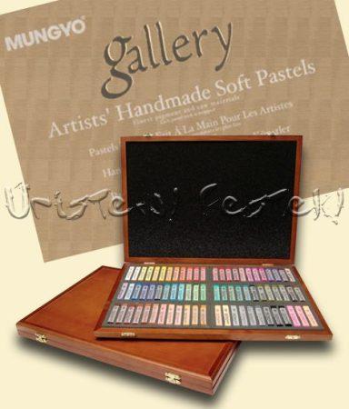Porpasztell készlet - Mungyo Gallery 72 darabos fadobozos