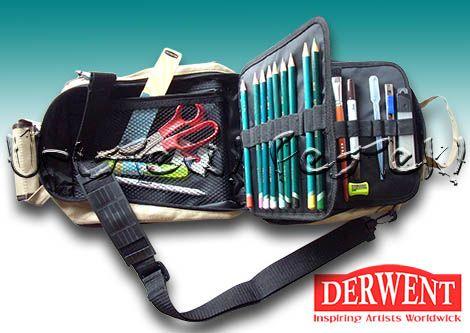 Rajztáska -Derwent Carry-All - vállra akasztható rajzkelléktartó (üresen)