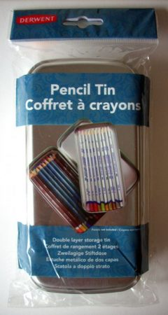Pencil and Chalk holder - Derwent, tin (empty)