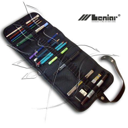 Feltekerhető Ceruza, Ecset- és Eszköztartó -textil (üresen)