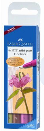 Filc készlet Faber-Castell artist pens fineliner warm colours 4db -167005
