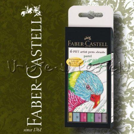 Filc készlet Faber-Castell Művész Ecsetfilc PASTEL 6db -167163