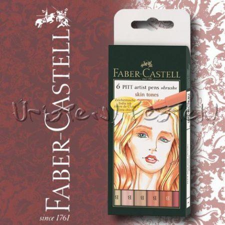 Filc készlet Faber-Castell Művész Ecsetfilc SKIN TONES 6db -167162