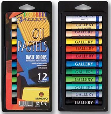 Olajpasztell készlet - Mungyo Artists' Oil Pastels 12db-os