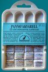 Akvarellfesték készlet - Pannoncolor Szilkés művészfesték műanyag dobozban, 12x2ml