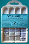 Watercolor paint set - Pannoncolor artist paint ain plastic box, 12 x 2 ml
