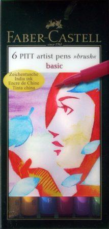Filc készlet Faber-Castell Művész Ecsetfilc BASIC 6db -167103