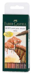 Filc készlet Faber-Castell Művész Ecsetfilc TERRA 6db -167106