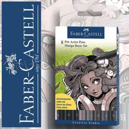 Filckészlet - Faber-Castell MANGA basic ecsetfilc 8db -167107