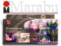 Üvegfestő alapkészlet, 4 színnel - Marabu