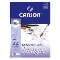 Mix Media tömb - 30%-os AKCIÓ Canson Imagine A/1, 200g 25lap Akvarell, tus és filcrajzokhoz