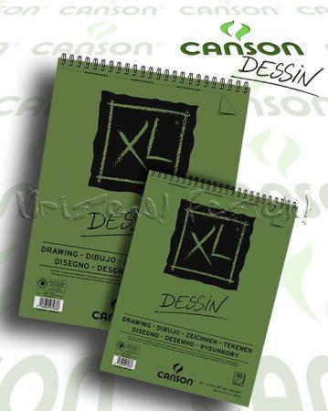 """Rajztömb - Canson """"XL"""" DESSIN 160g, 50lap, spirál"""