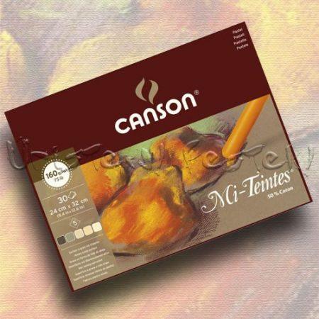 Pasztelltömb Canson Mi-Teintes - 5 meleg árnyalat