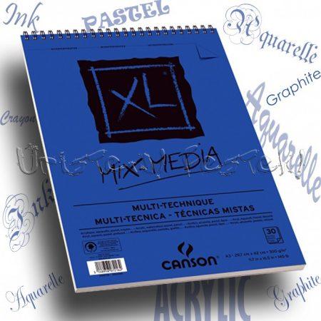 """Vázlat és Festőtömb - Canson """"XL"""" MIX-MEDIA 300g, 15 vagy 30 lappal, spirál"""