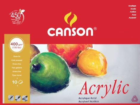 Akriltömb - CANSON ACRYLIC - 10lap, 400g