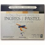 Pasztelltömb - Clairefontaine INGRES/PASTEL Coloured Papers 130g, 25 sheets